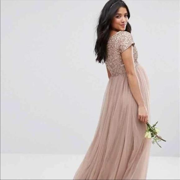 991a5abbf ASOS Maternity Dresses & Skirts - Maya maternity Sz 6 ASOS sequin formal  dress